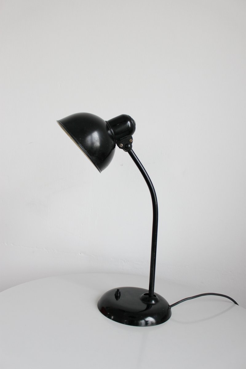 vintage black 6556 bauhaus desk lamp by christian dell for kaiser idell for sale at pamono. Black Bedroom Furniture Sets. Home Design Ideas