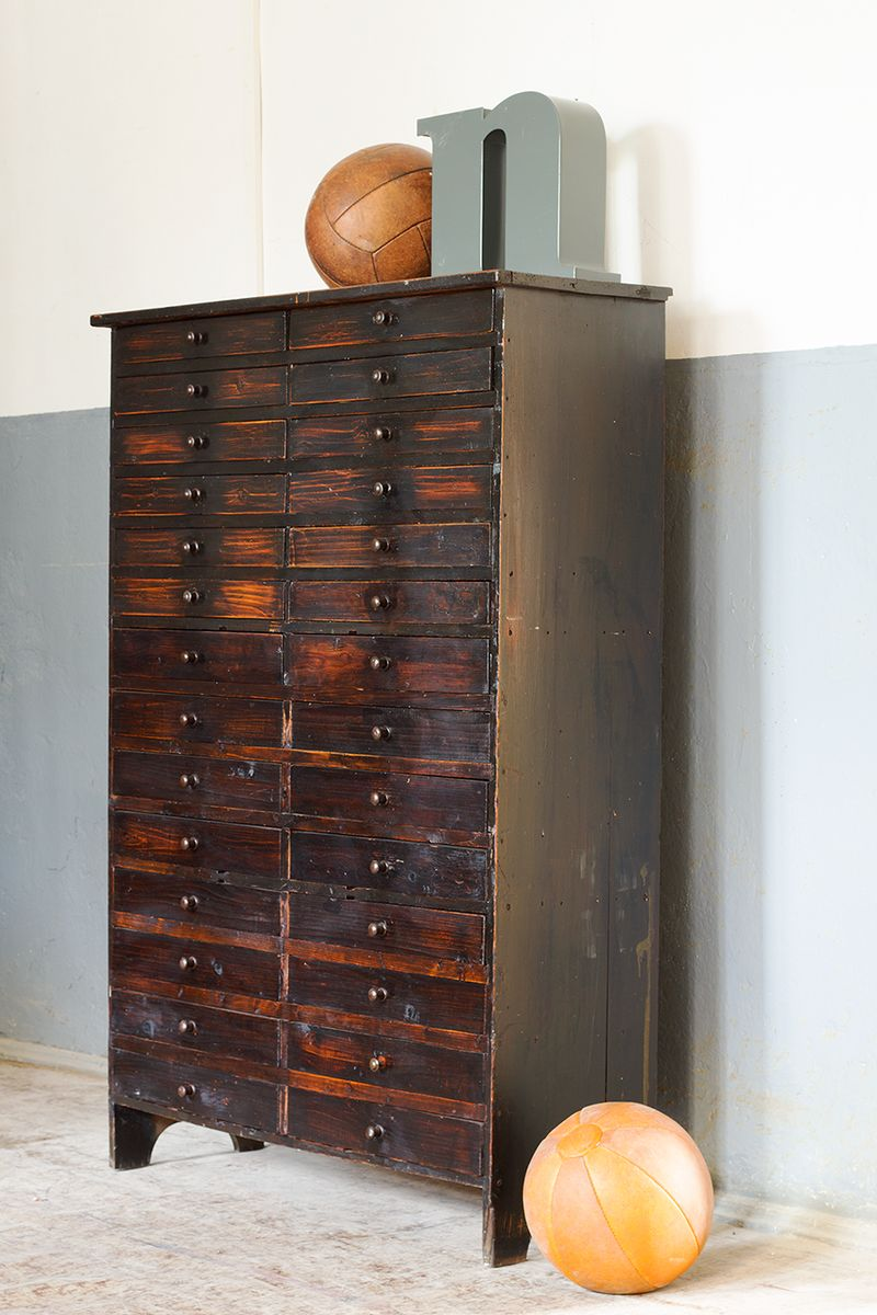 Vintage apothecary cabinet with drawers for sale at pamono for Kitchen drawers for sale
