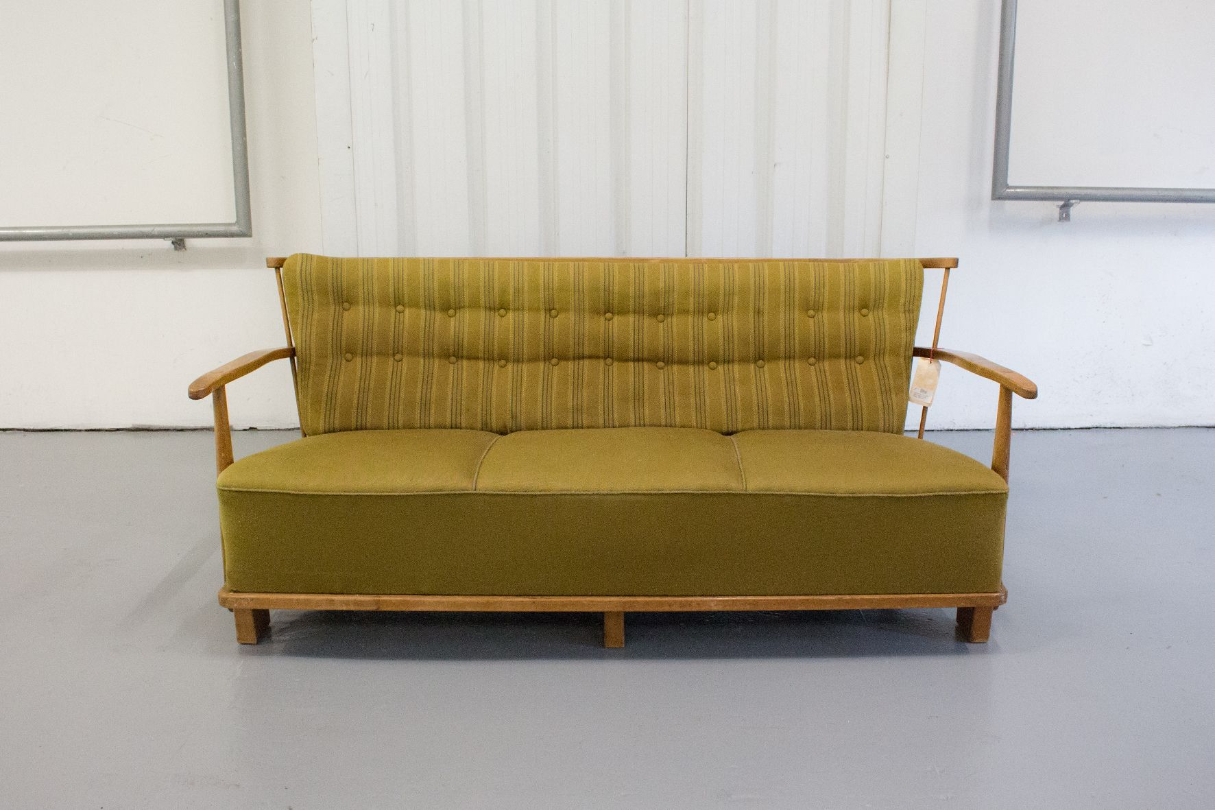 1590a 3 seater fabric sofa from fritz hansen 1940s for for Fabric couches for sale