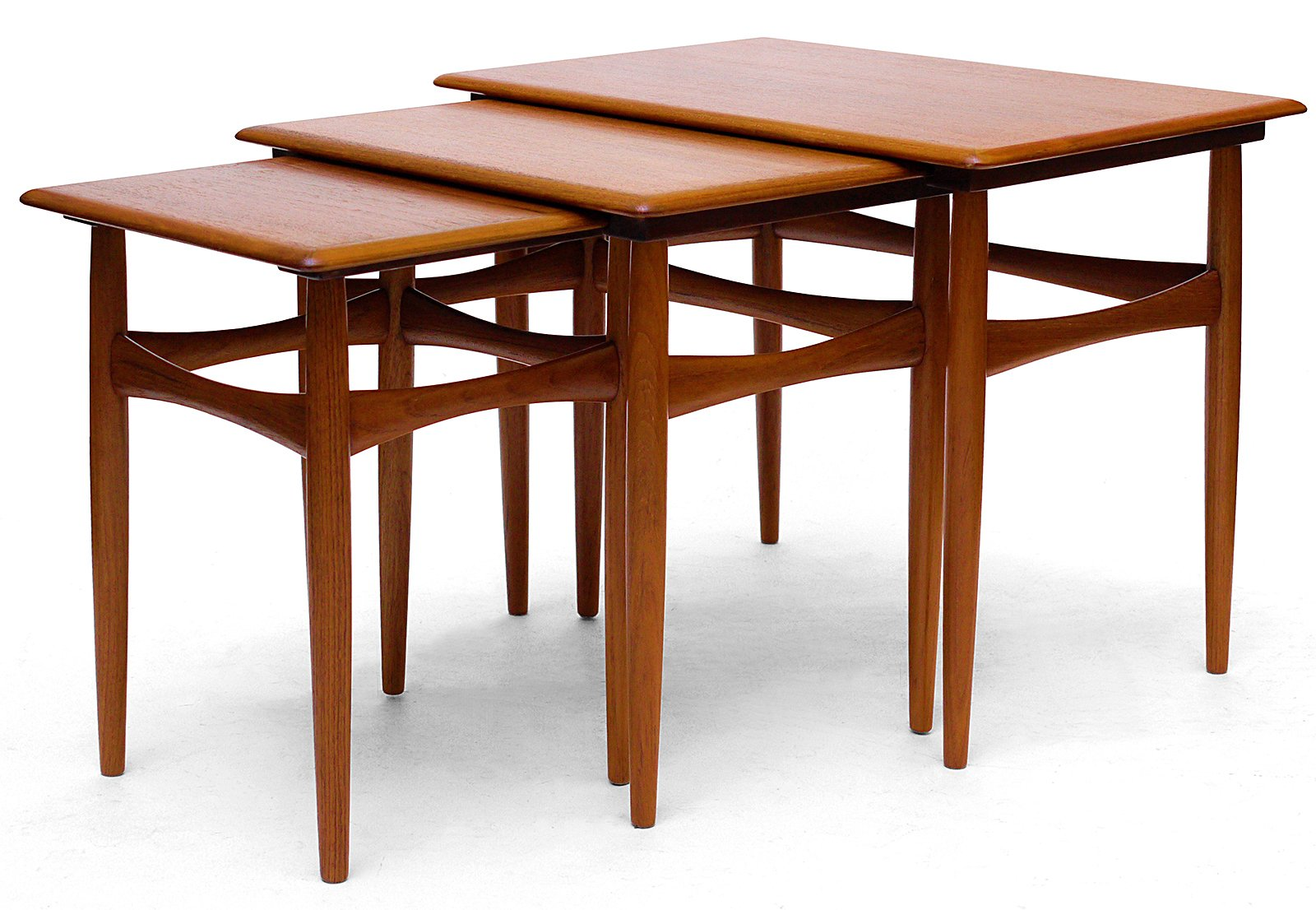 Teak amp Veneer Nesting Tables By Kai Kristiansen For