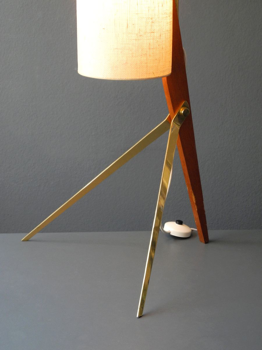 mid century modern tripod cone floor lamp for sale at pamono. Black Bedroom Furniture Sets. Home Design Ideas