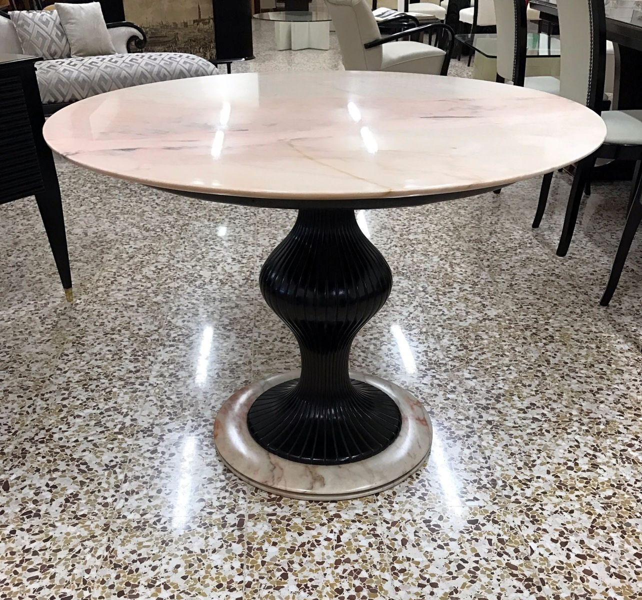 italian pedestal dining table by osvaldo borsani 1950s for sale