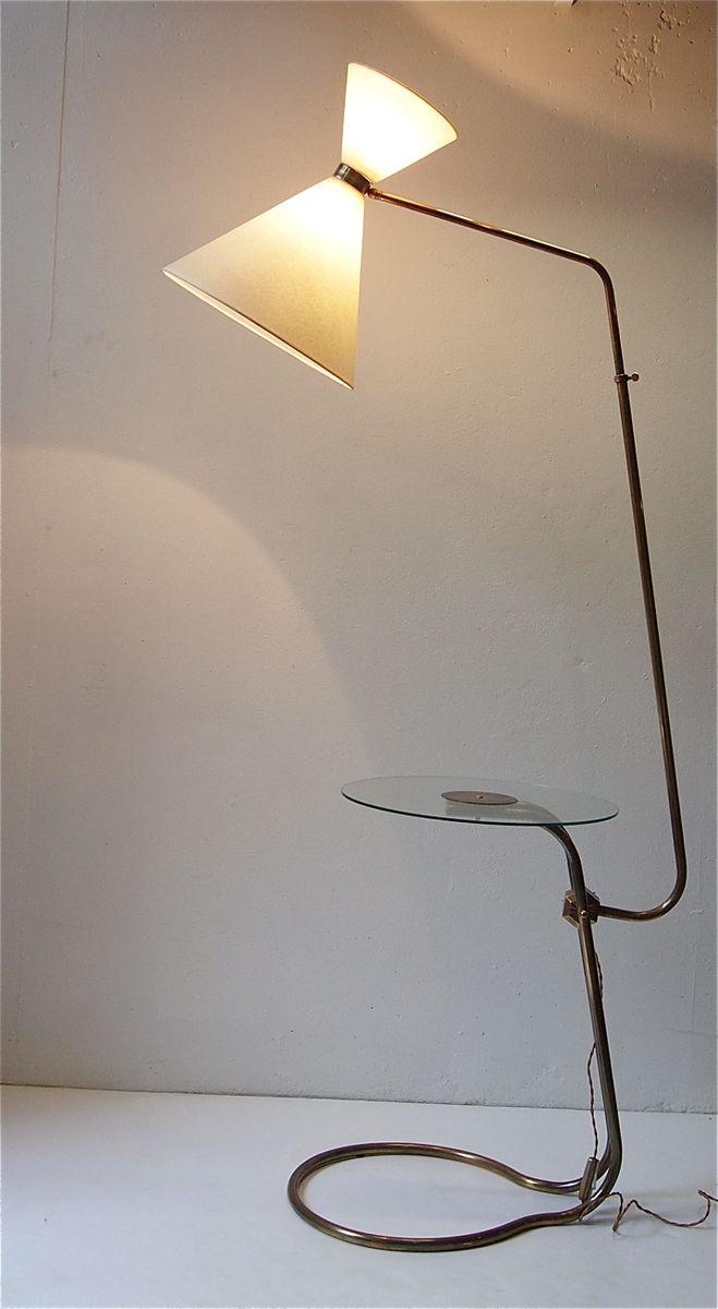 Stehlampe mti beistelltisch 1950er bei pamono kaufen for Beistelltisch 1950