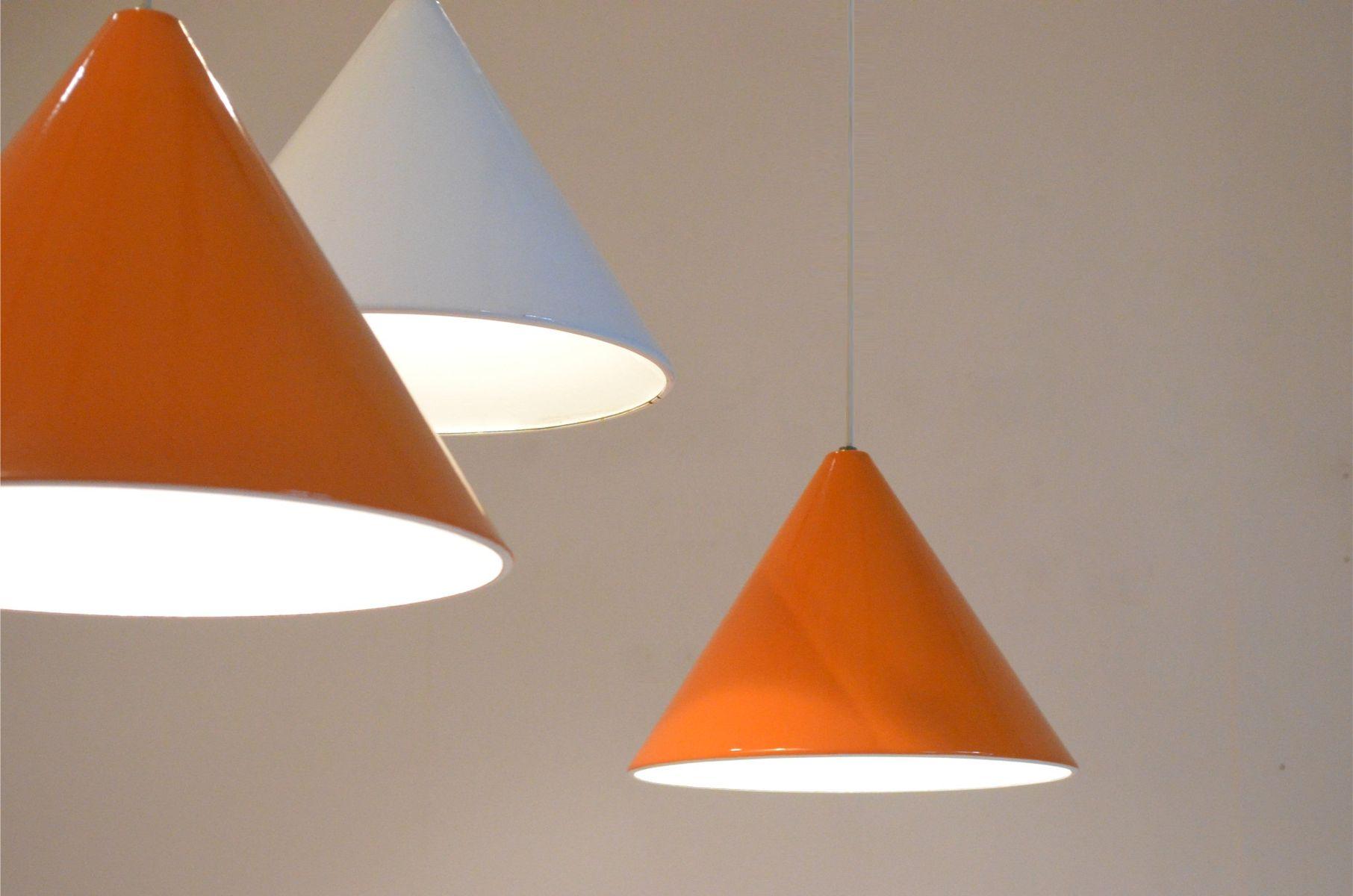 Orange Mid-Century Billard H?ngelampe von Arne Jacobsen f\u00fcr Louis Poulsen bei Pamono kaufen