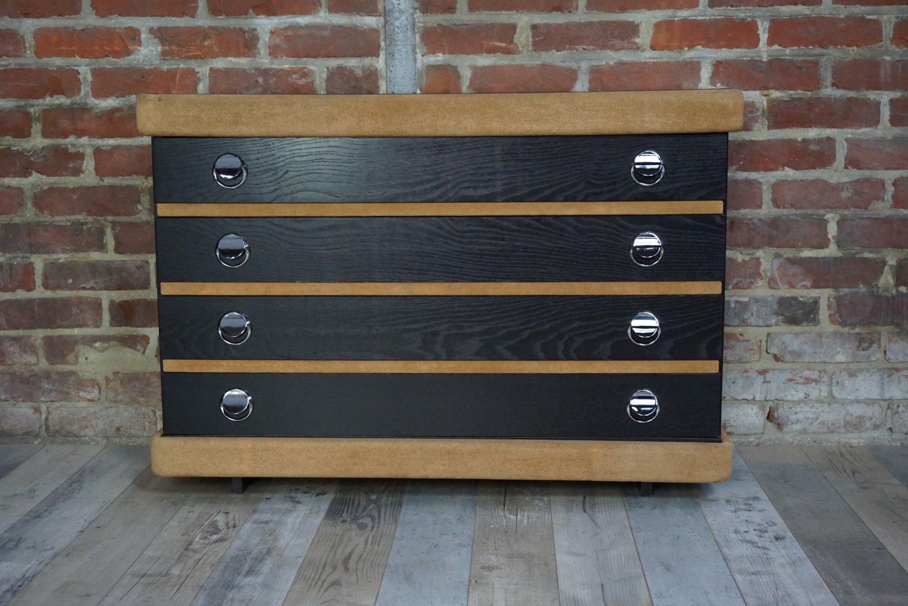schwarze kommode 1970er bei pamono kaufen. Black Bedroom Furniture Sets. Home Design Ideas