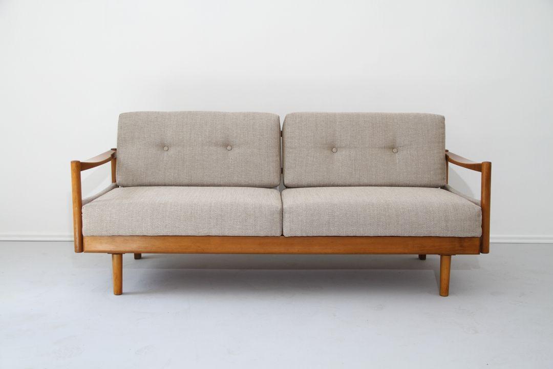 Tagesbett holz  Mid-Century Tagesbett, 1960er bei Pamono kaufen