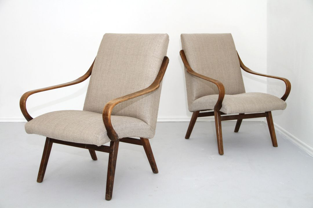 Armchairs with beige upholstery 1960s set of 2 for sale for 2 armchairs for sale
