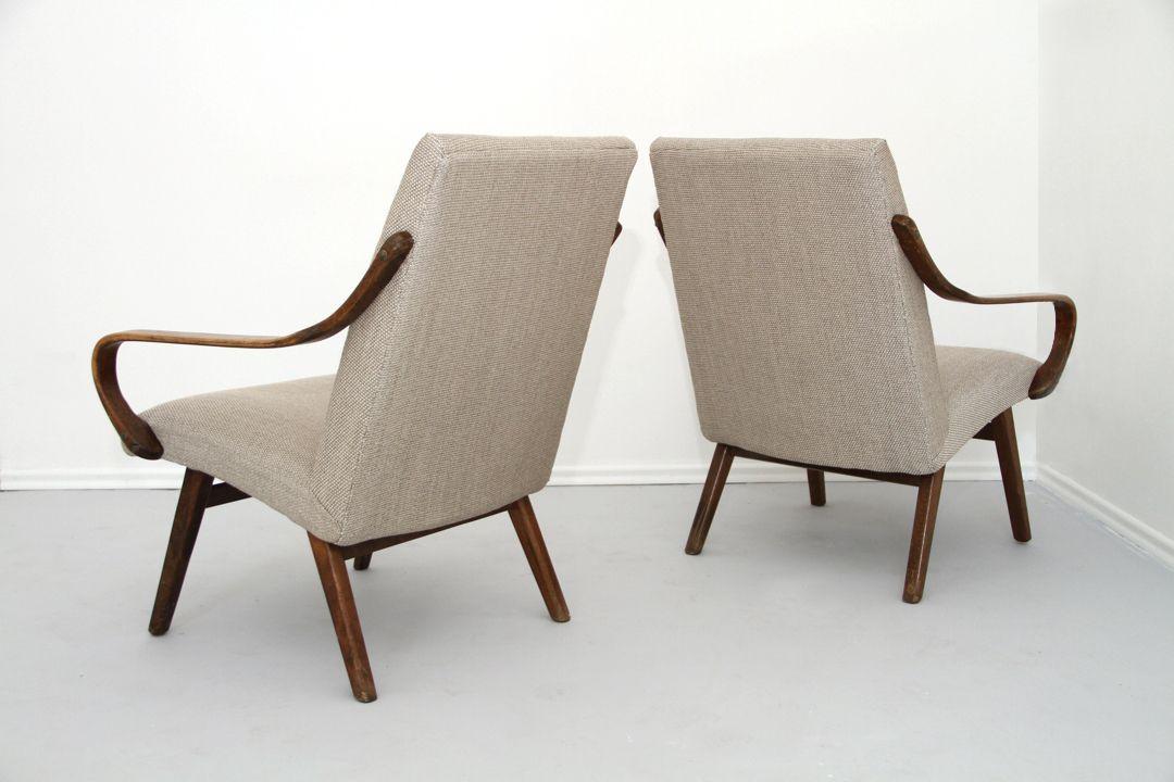 sessel mit beigen bez gen 1960er 2er set bei pamono kaufen. Black Bedroom Furniture Sets. Home Design Ideas