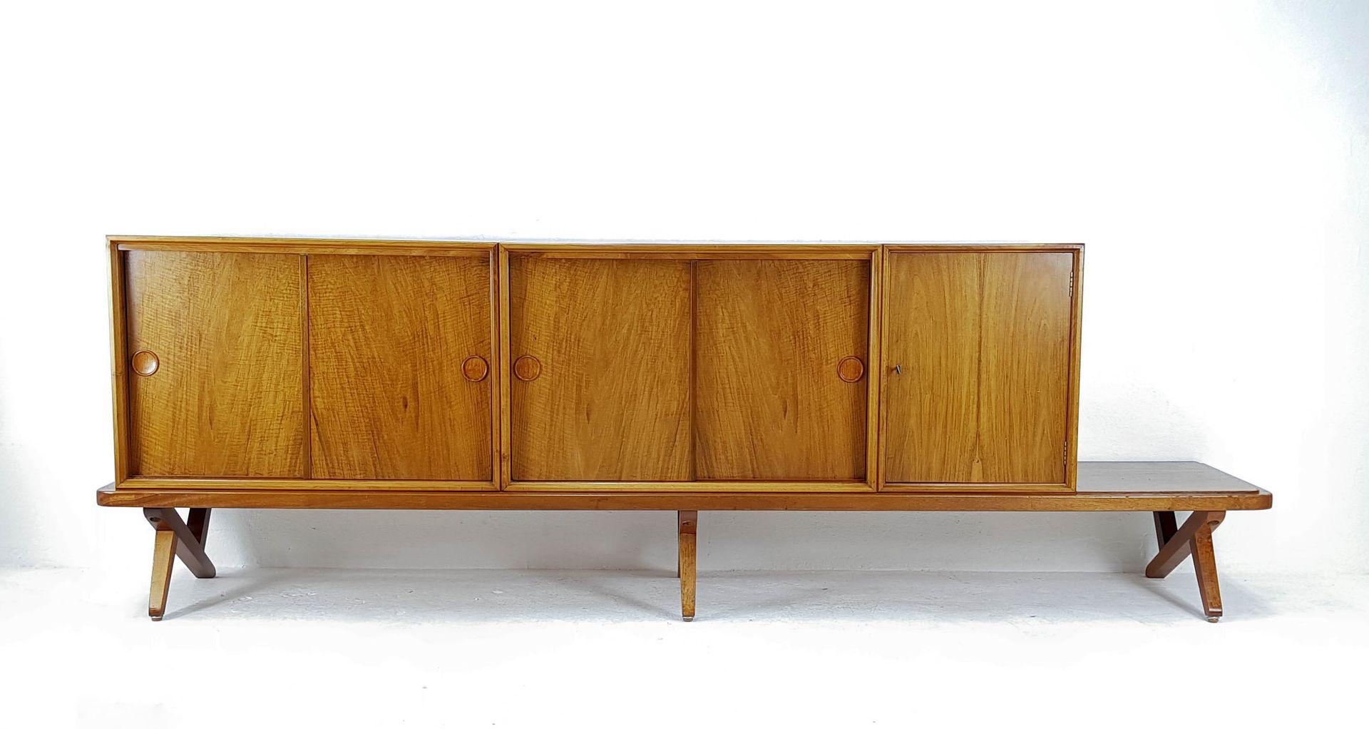 vintage sideboard by rudolf glatzel for fristho 1957 for sale at pamono. Black Bedroom Furniture Sets. Home Design Ideas