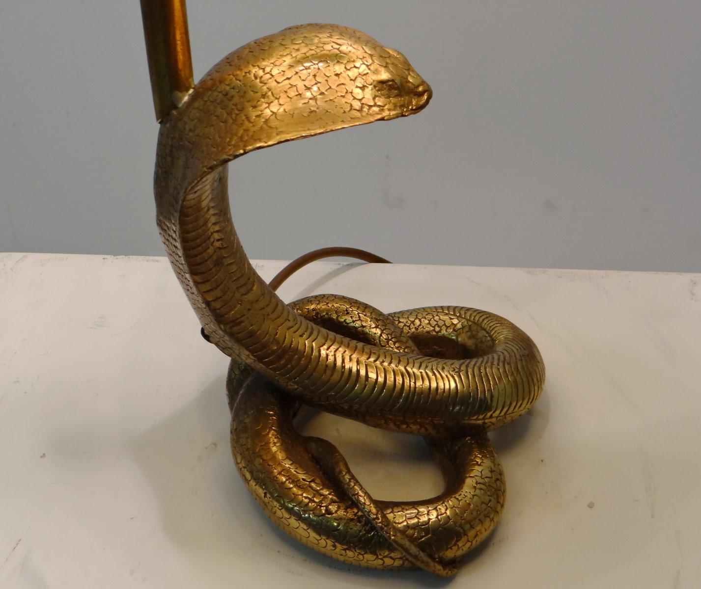 vintage kobra messing tischlampe bei pamono kaufen. Black Bedroom Furniture Sets. Home Design Ideas