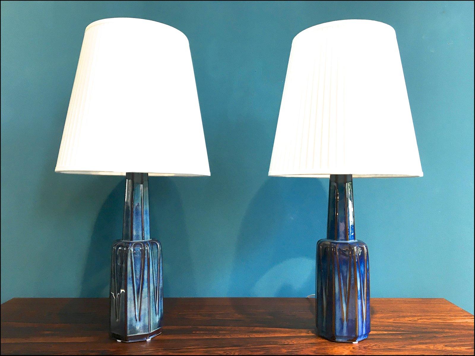 D nische vintage keramik tischlampen von einar johansen for Tischlampen vintage