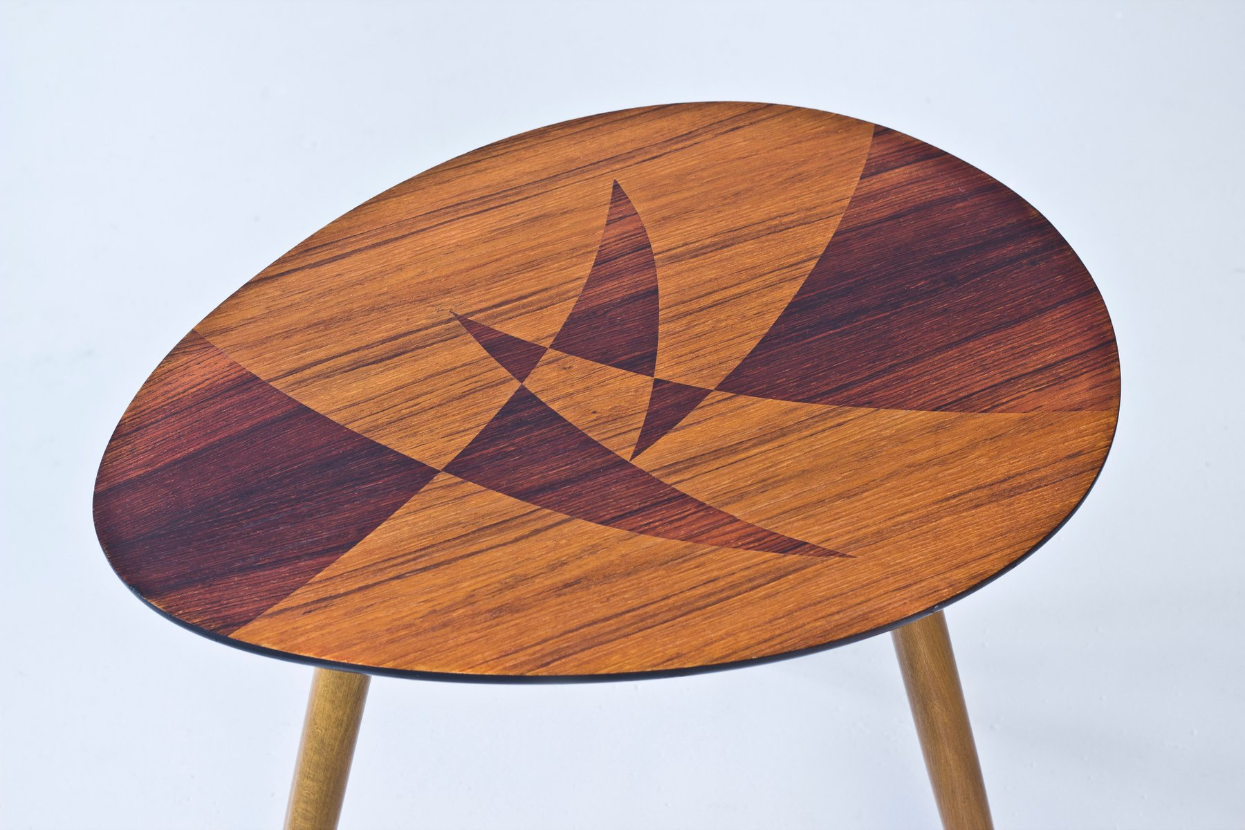 Swedish Inlay Table, 1950s