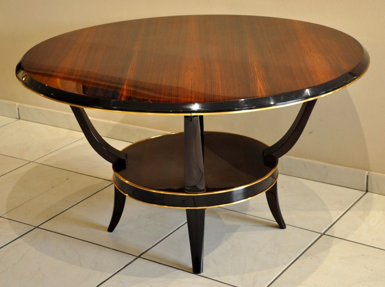 Rosewood Coffee Table By Ren Prou 1930s For Sale At Pamono
