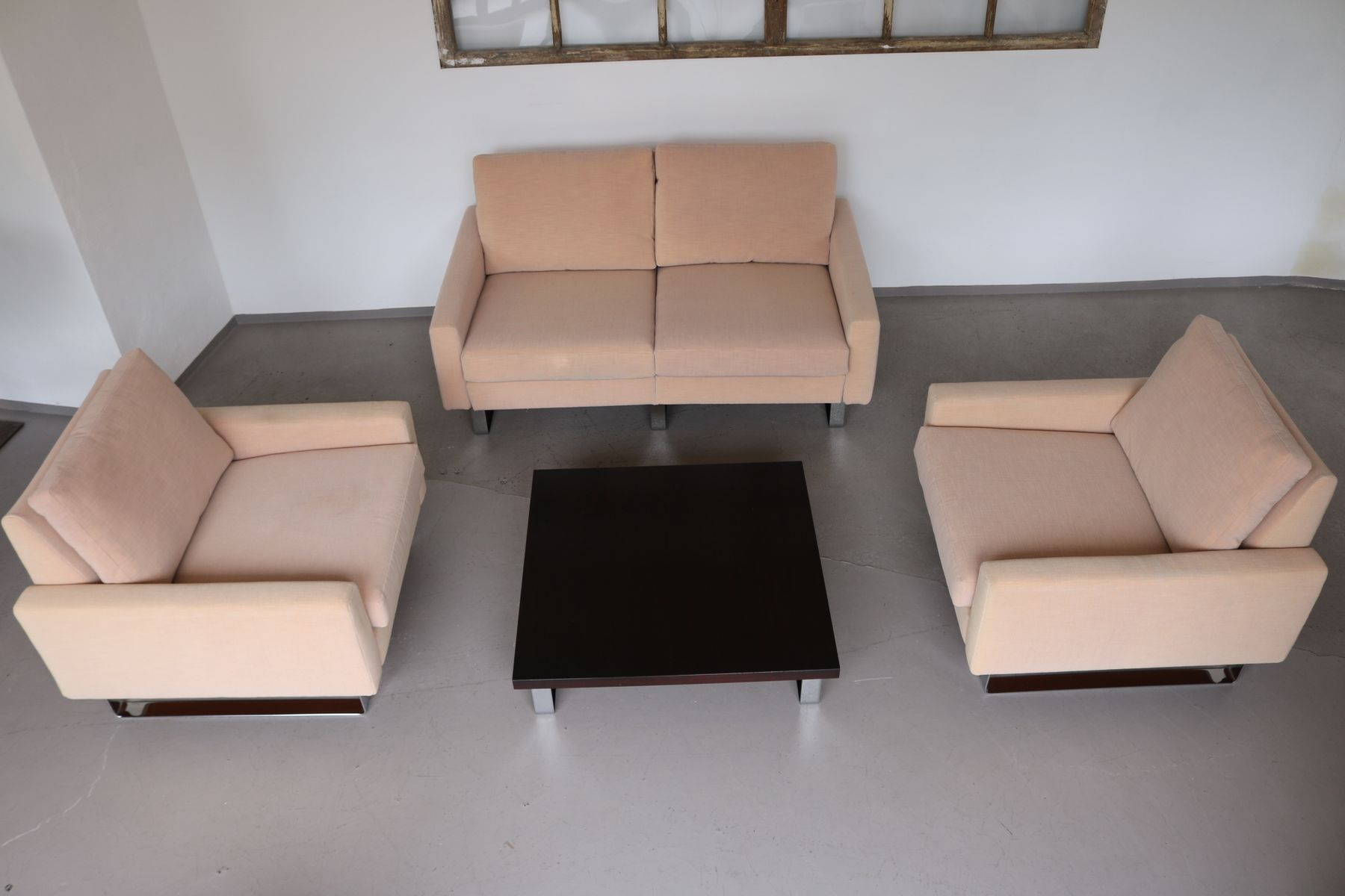 Conseta Lounge Chairs Sofa Table By F W M Ller For Cor 1960s For Sale At Pamono