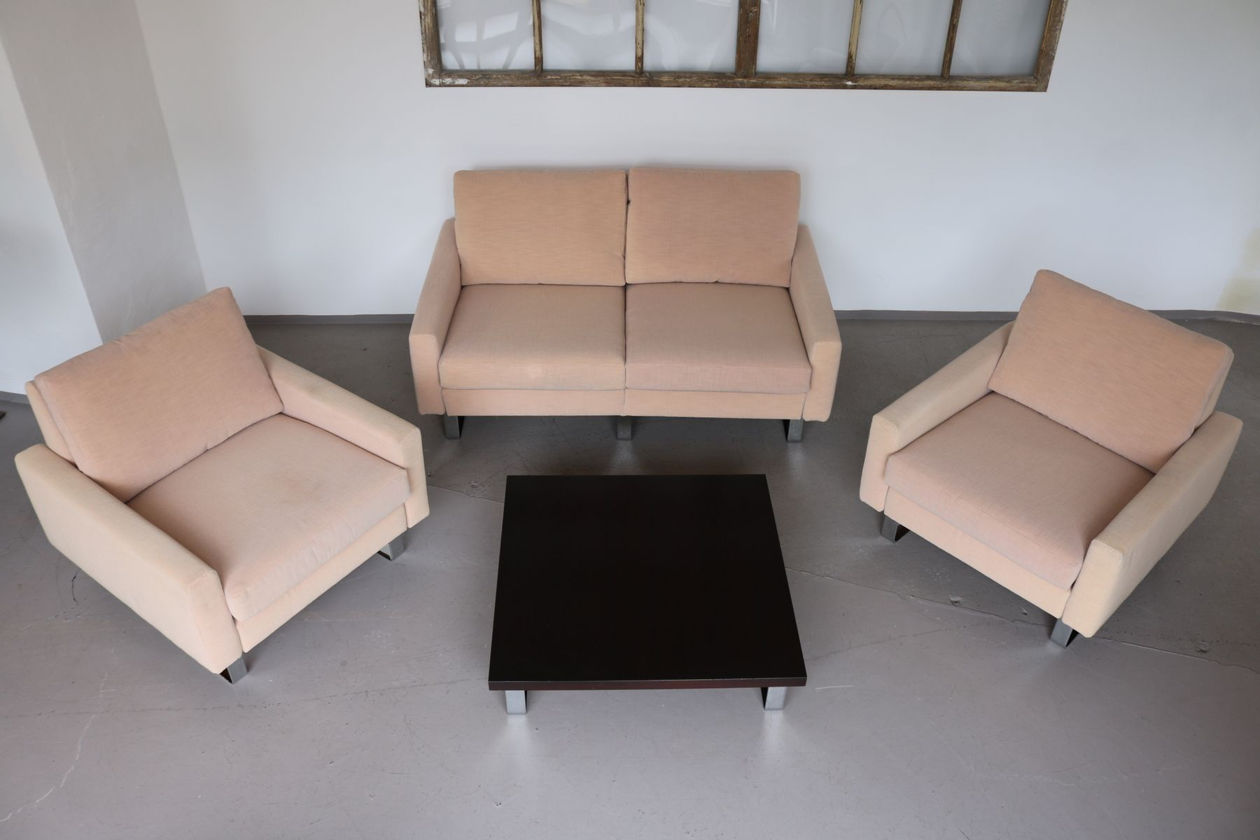 Conseta Lounge Chairs Sofa & Table by F W Möller for Cor 1960s