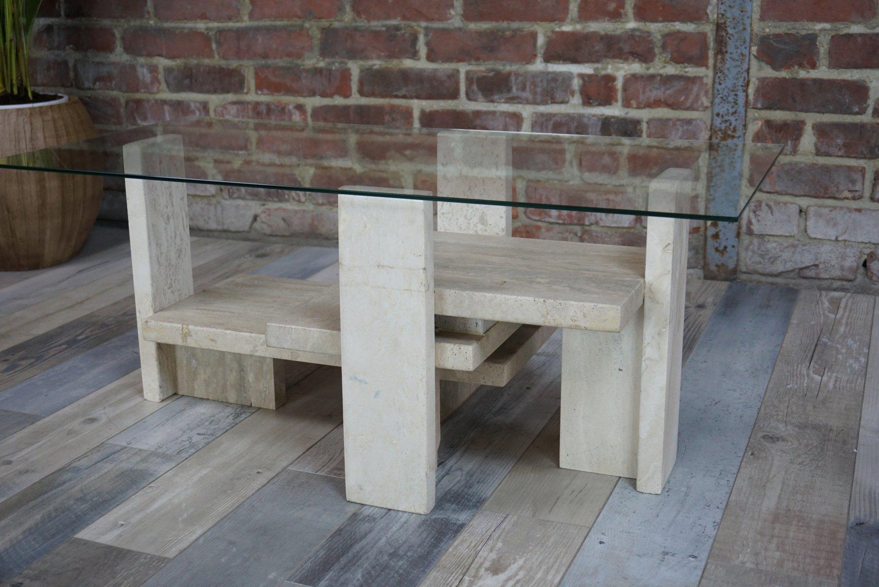 tisch mit glasplatte von willy ballez 1970 bei pamono kaufen. Black Bedroom Furniture Sets. Home Design Ideas