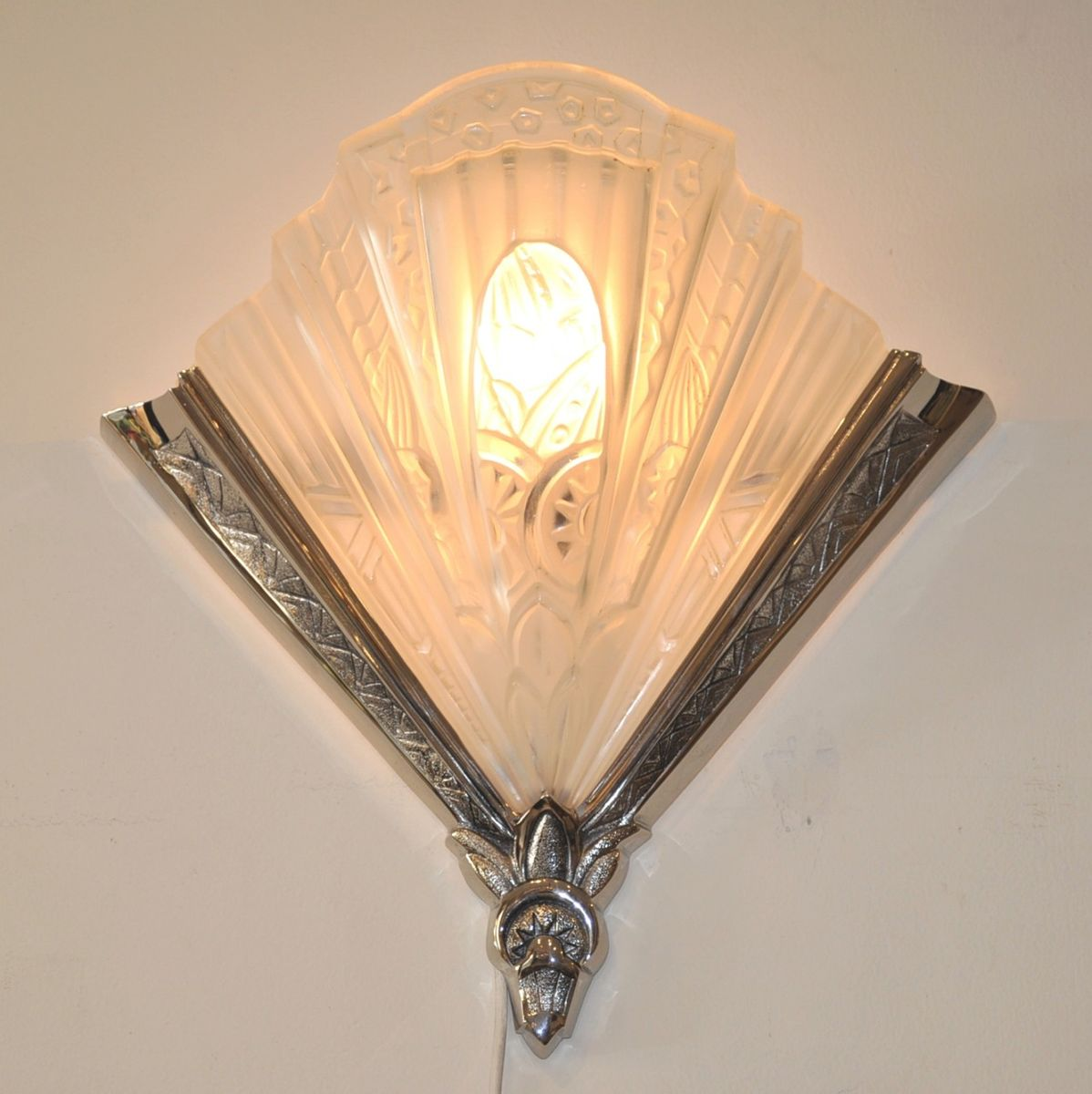 Art Deco Wall Lamps by Frontisi, 1930s, Set of 2 for sale at Pamono