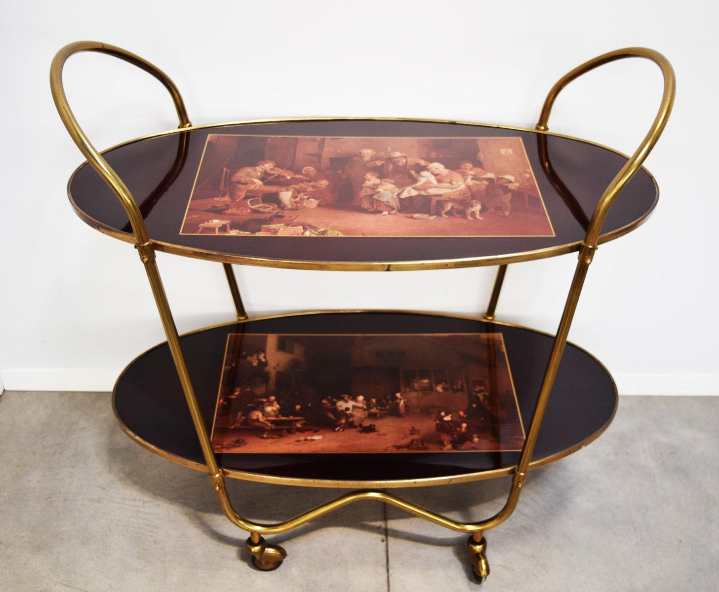 vintage messing servierwagen 1960er bei pamono kaufen. Black Bedroom Furniture Sets. Home Design Ideas