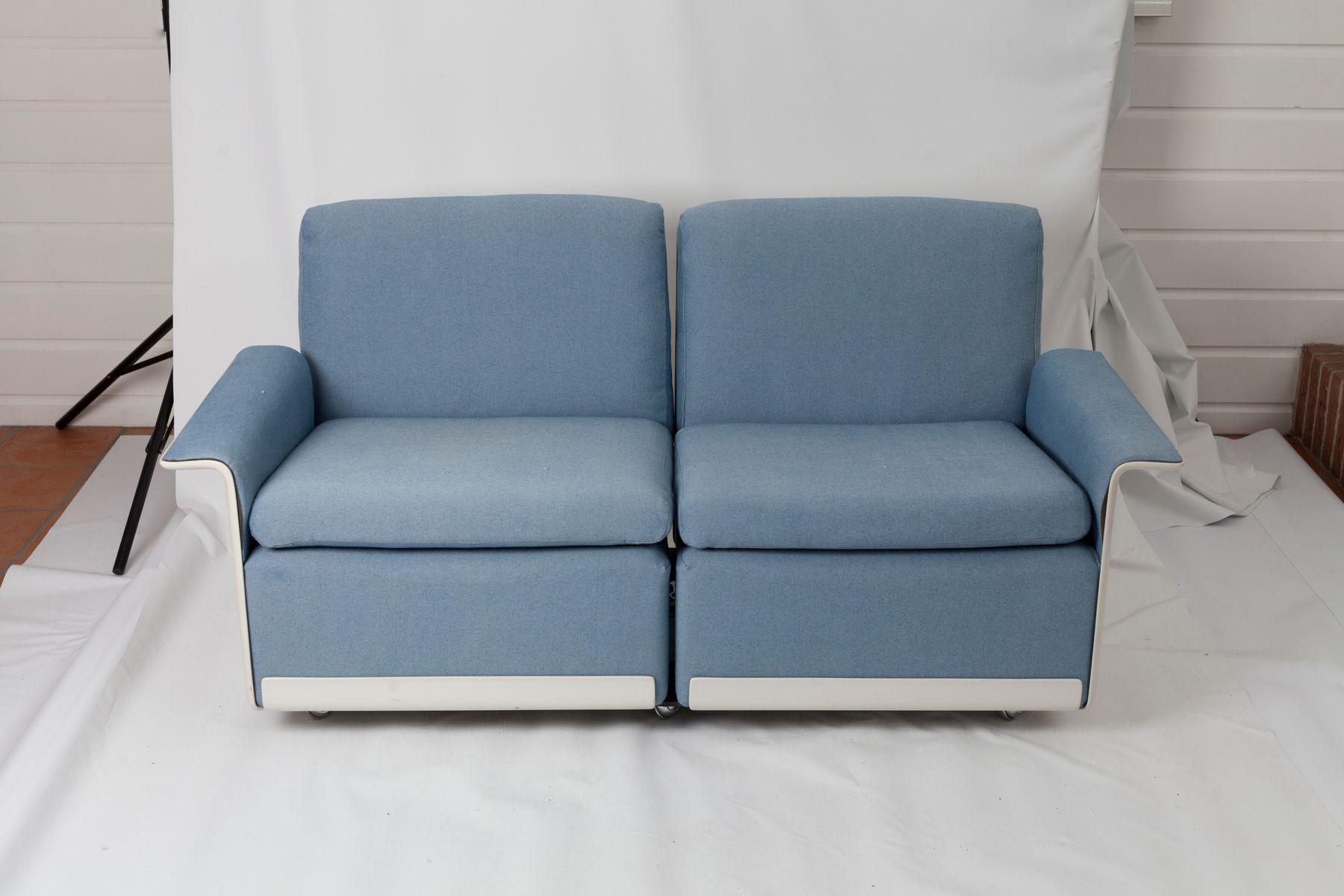 RZ62 Azure & White Modular Sofas by Dieter Rams for Vitsoe 1962