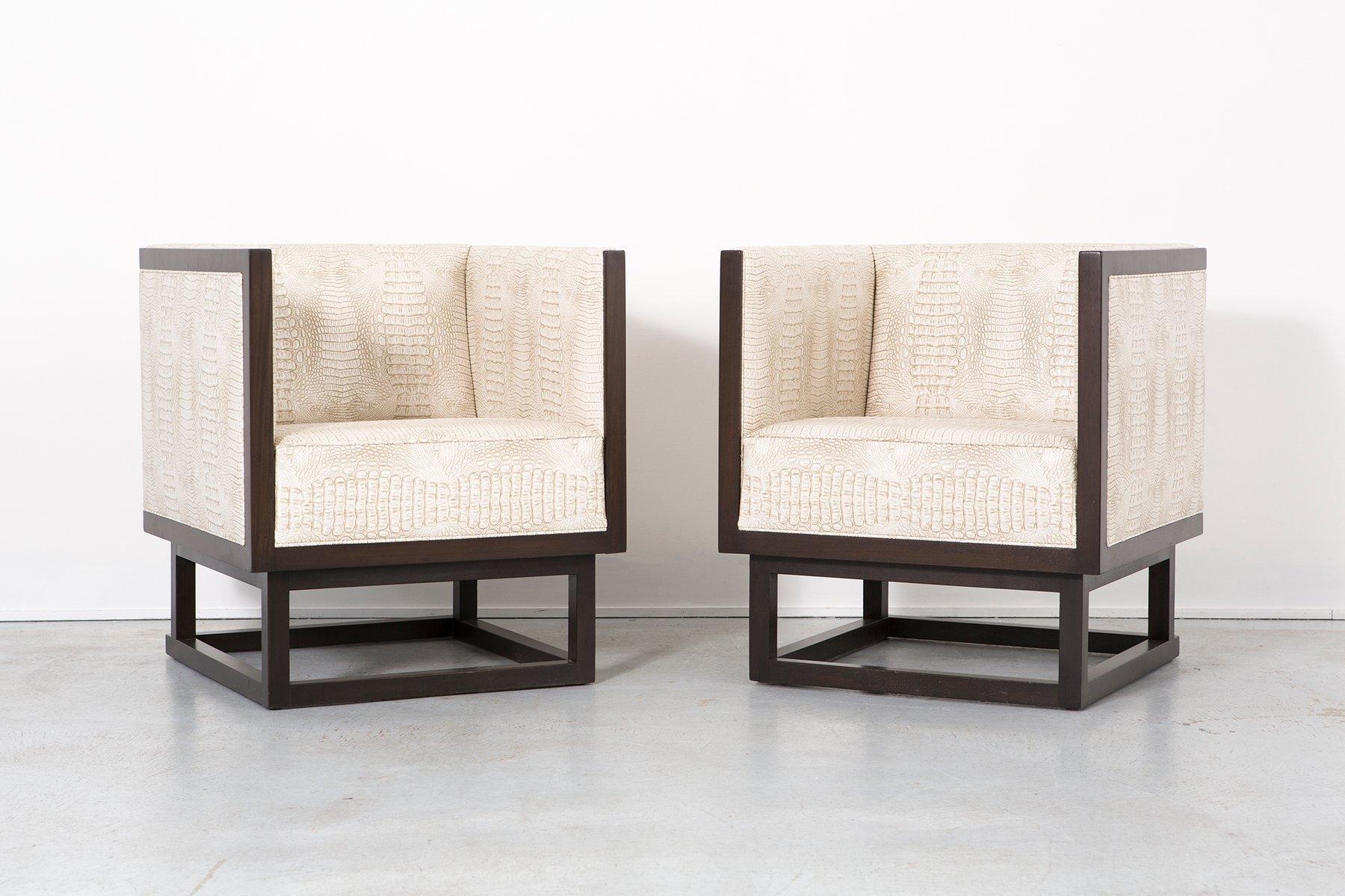 vintage polsterst hle von josef hoffmann f r wittmann 2er set bei pamono kaufen. Black Bedroom Furniture Sets. Home Design Ideas