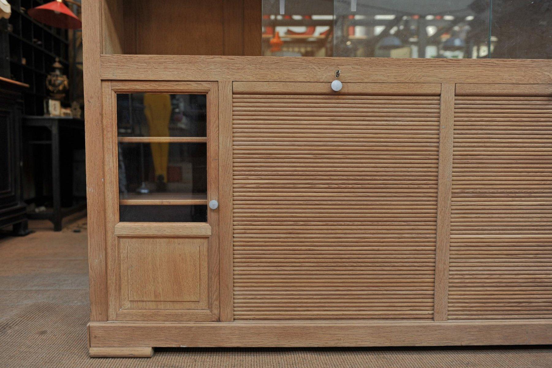 Meuble de bureau avec portes coulissantes 1930s en vente for Meuble avec porte