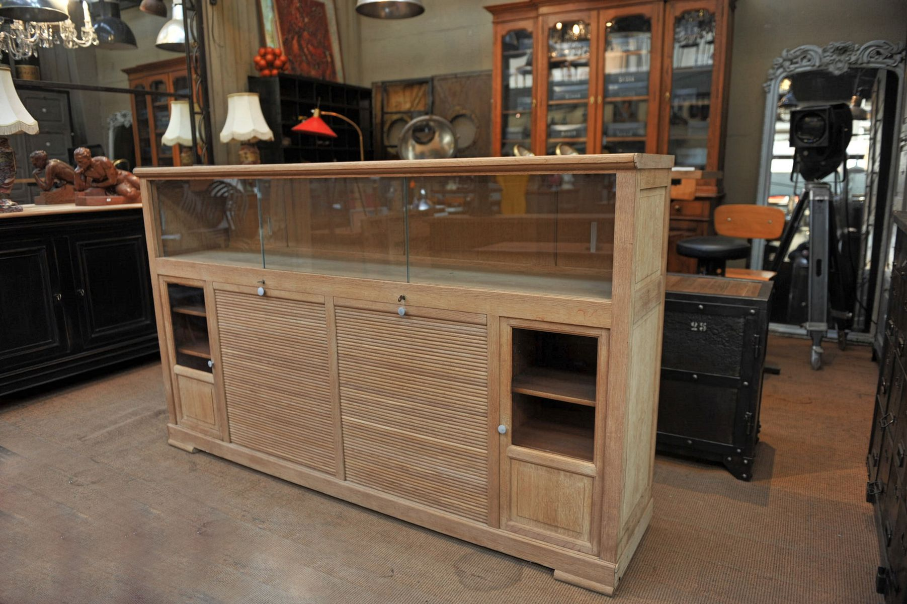 Office cabinet with sliding doors 1930s for sale at pamono for 1930s kitchen cabinets for sale