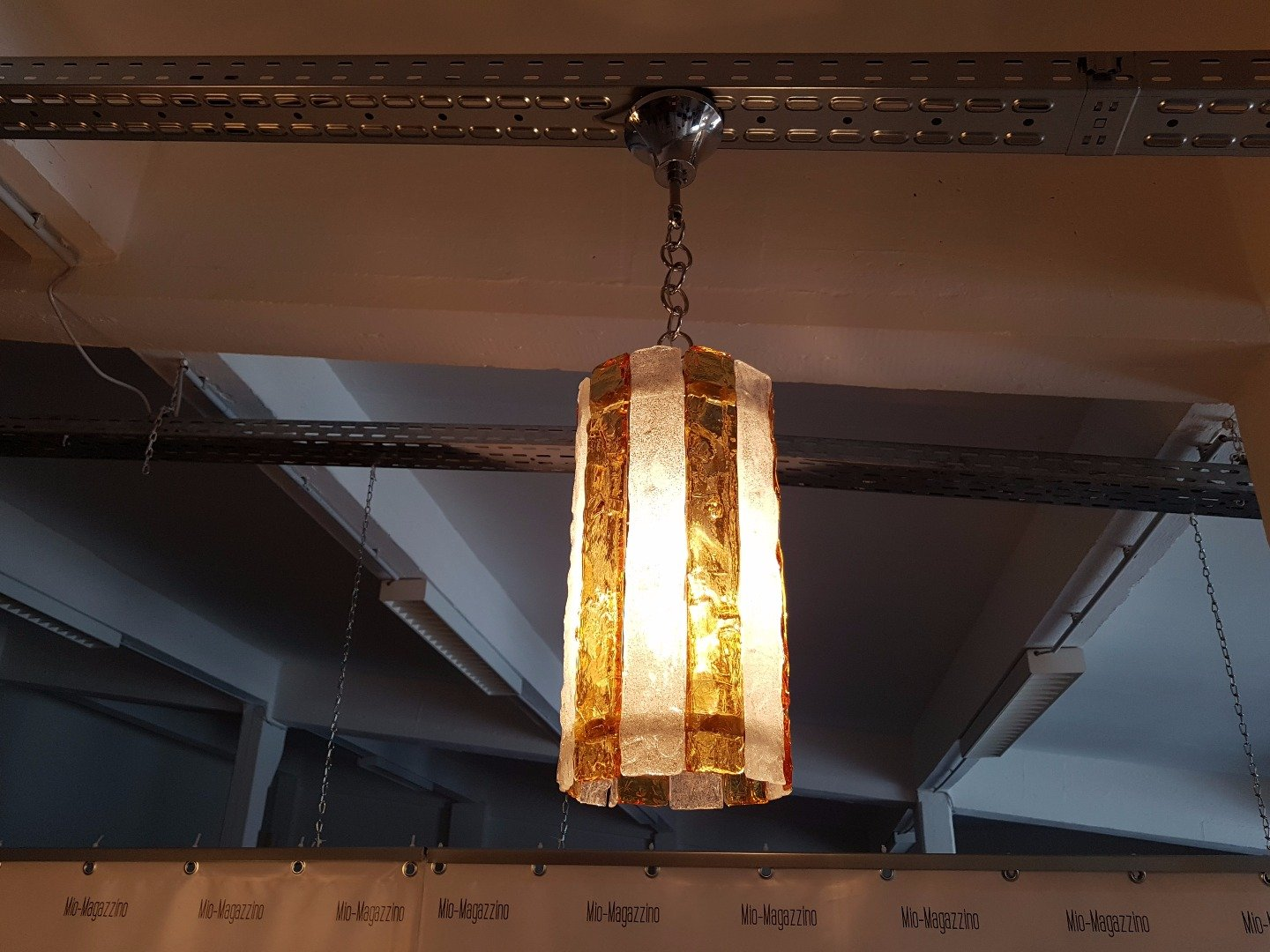 Mid century murano glass ceiling lamp for sale at pamono for Mid century ceiling lamp