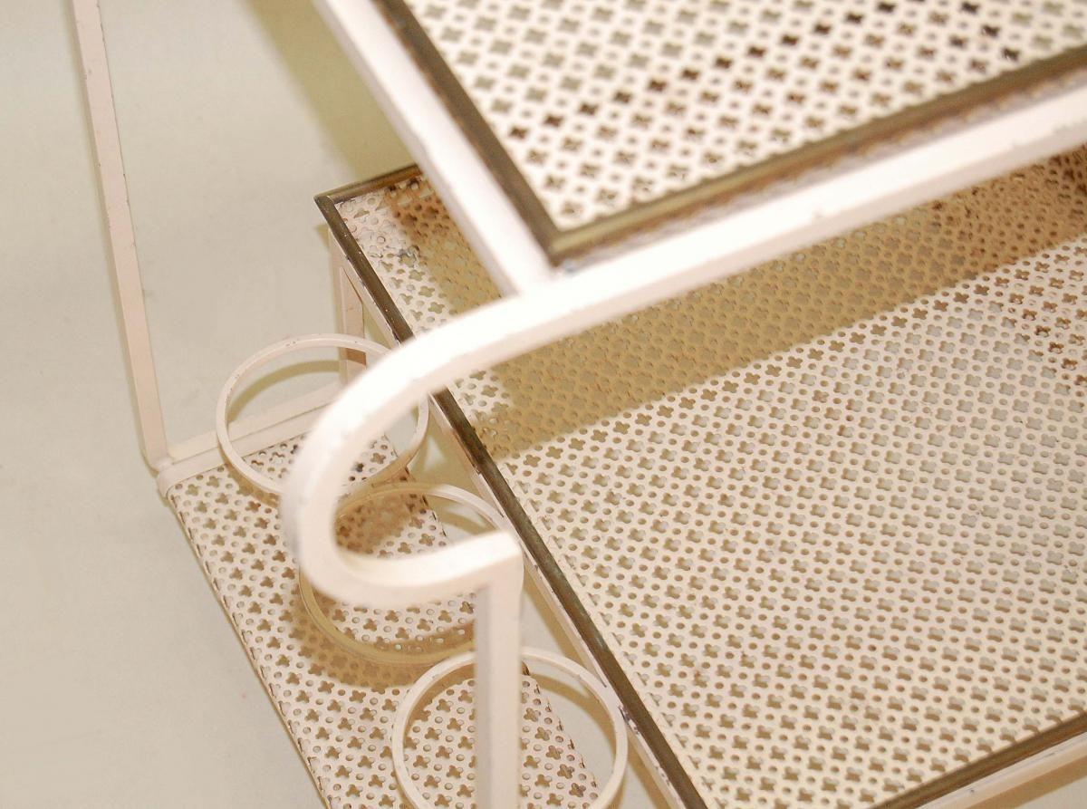 servierwagen aus lackiertem stahl von mathieu mategot 1950er bei pamono kaufen. Black Bedroom Furniture Sets. Home Design Ideas