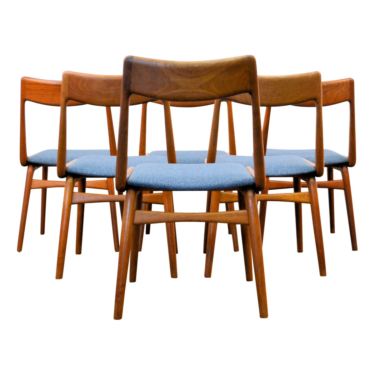 Mid Century Boomerang Dining Chairs by Alfred Christensen  : mid century boomerang dining chairs by alfred christensen for slagelse mobelvaerk set of 6 5 from www.pamono.com size 1200 x 1200 jpeg 89kB