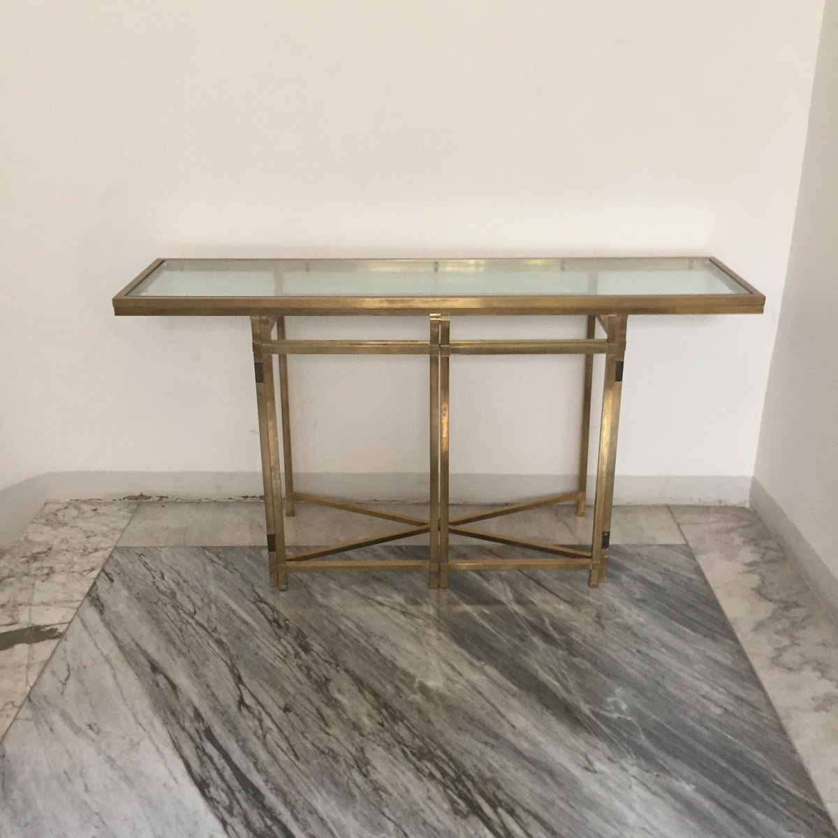 Vintage brass console table for sale at pamono - Used console table for sale ...
