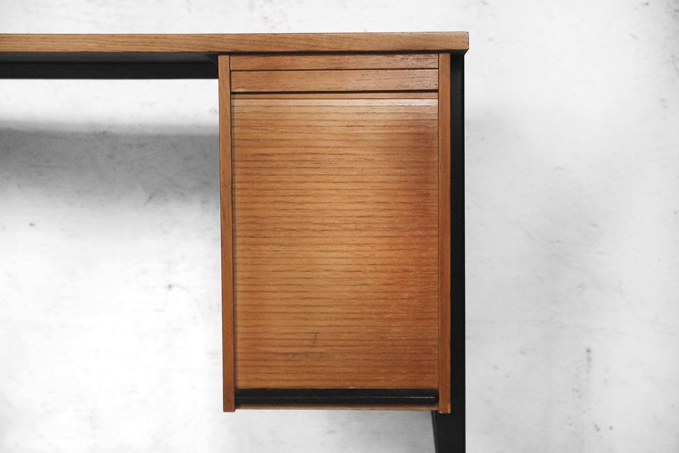 Mid century desk with catalogue roller cabinet 1960s for for Roller sideboard