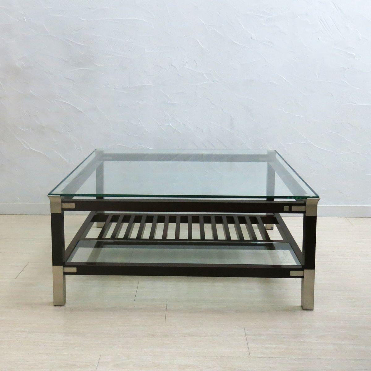 couchtisch mit glasplatte von pierre vandel 1970er bei pamono kaufen. Black Bedroom Furniture Sets. Home Design Ideas