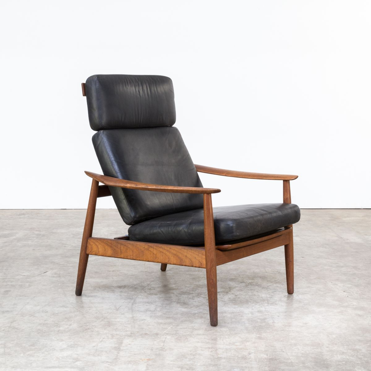 Easy chair recliner - Fd 164 Easy Chair By Arne Vodder For France Son 1960s