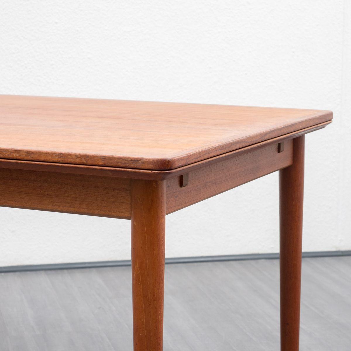 d nischer esstisch aus teak furnier von arne vodder f r. Black Bedroom Furniture Sets. Home Design Ideas