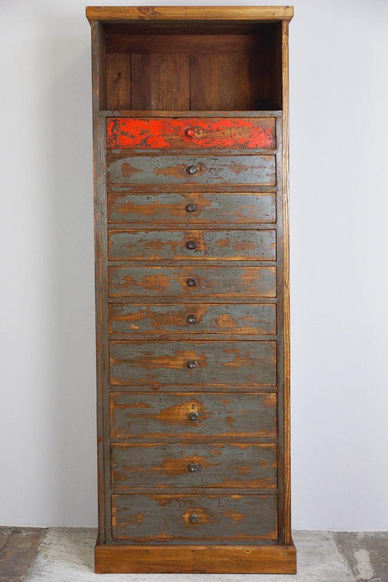 Meuble haut tiroirs vintage 1930s en vente sur pamono for Meuble haut tiroir