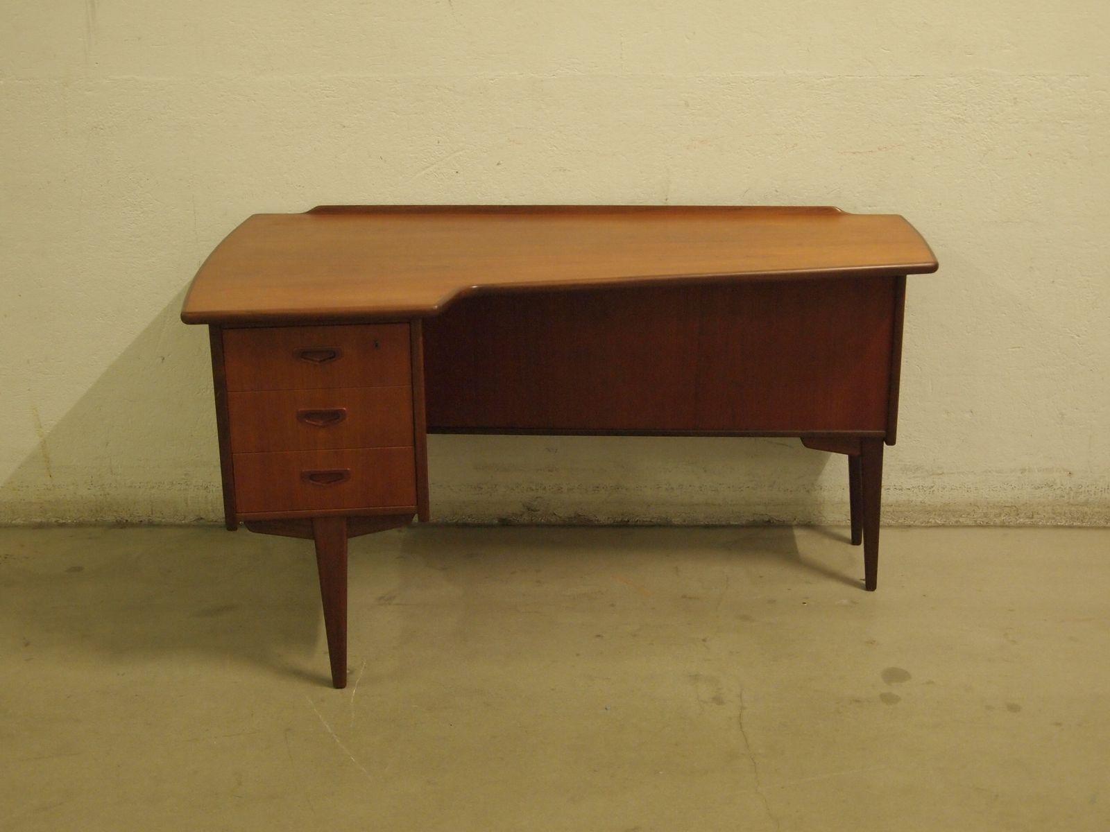 mid century boomerang schreibtisch bei pamono kaufen. Black Bedroom Furniture Sets. Home Design Ideas