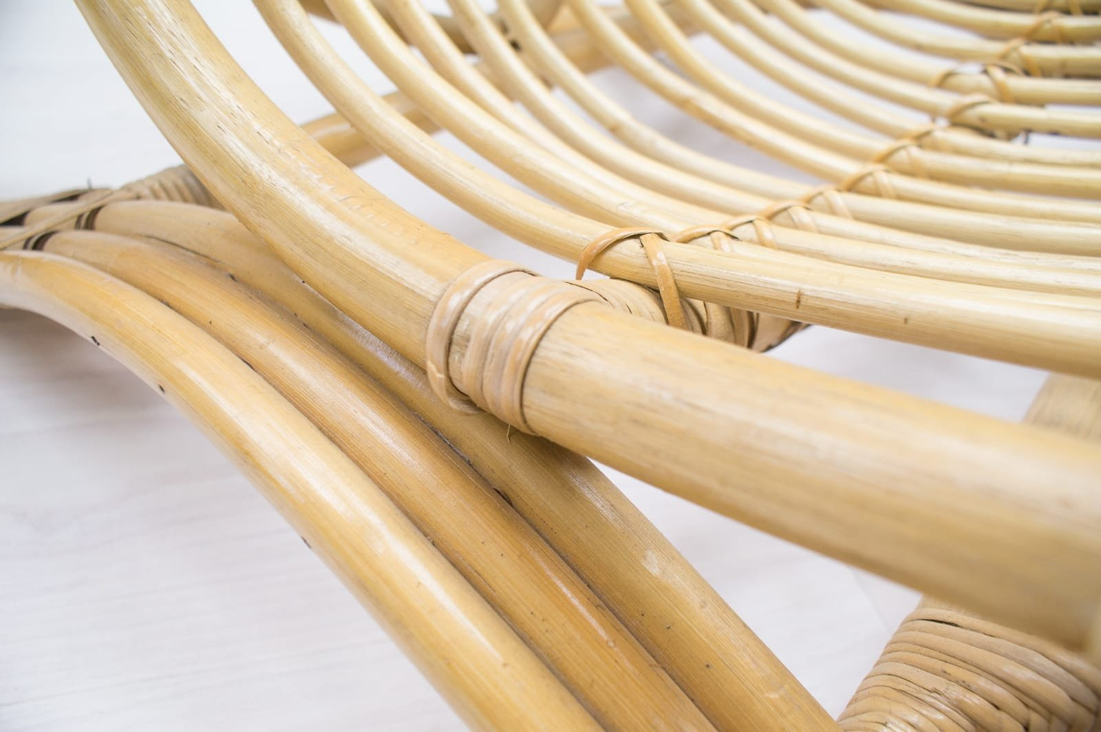 fauteuil en bambou et rotin 1970s en vente sur pamono. Black Bedroom Furniture Sets. Home Design Ideas