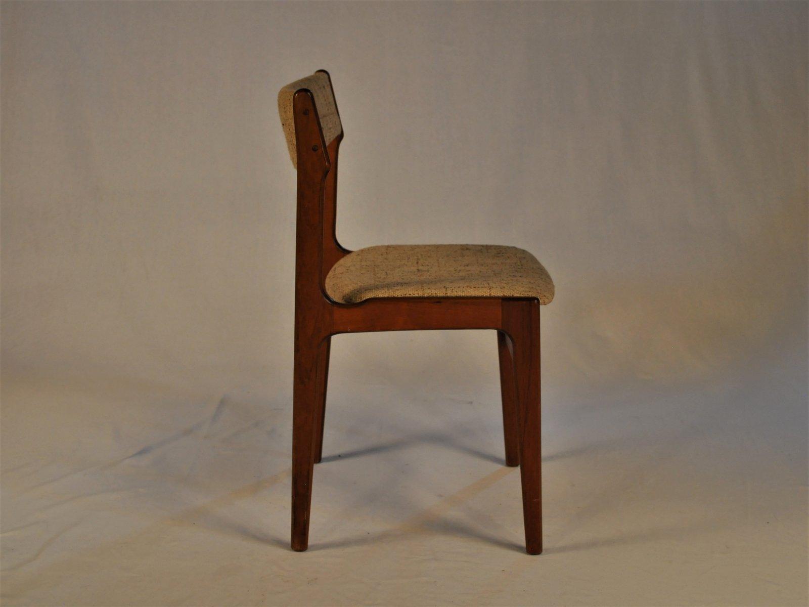 esszimmerst hle aus teak stoff von erik buch 1960er. Black Bedroom Furniture Sets. Home Design Ideas