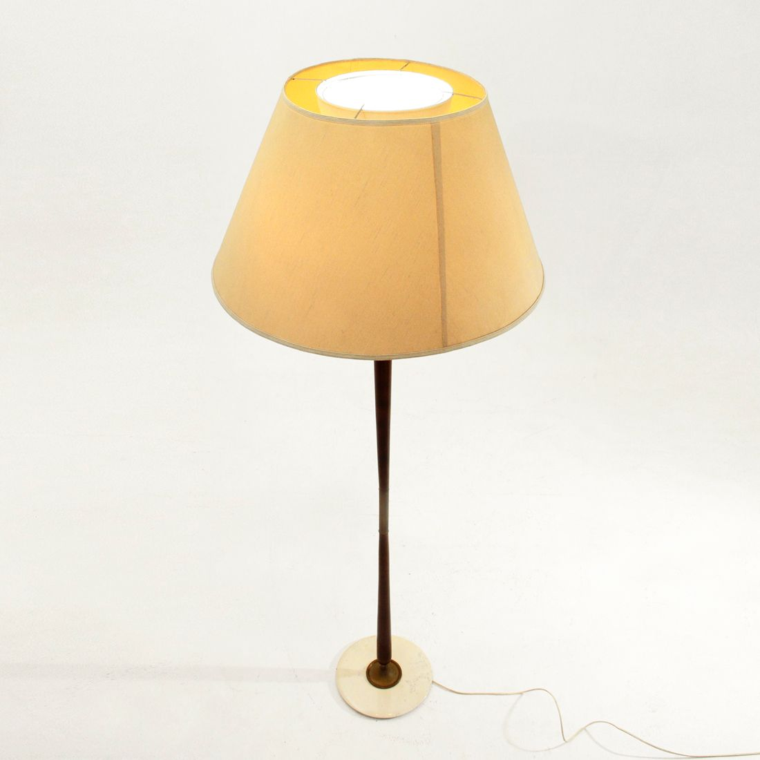 Italian floor lamp with marble base 1950s for sale at pamono for 1950 floor lamp