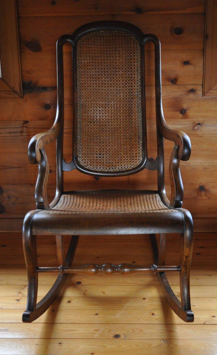 D nischer vintage schaukelstuhl bei pamono kaufen for Retro schaukelstuhl