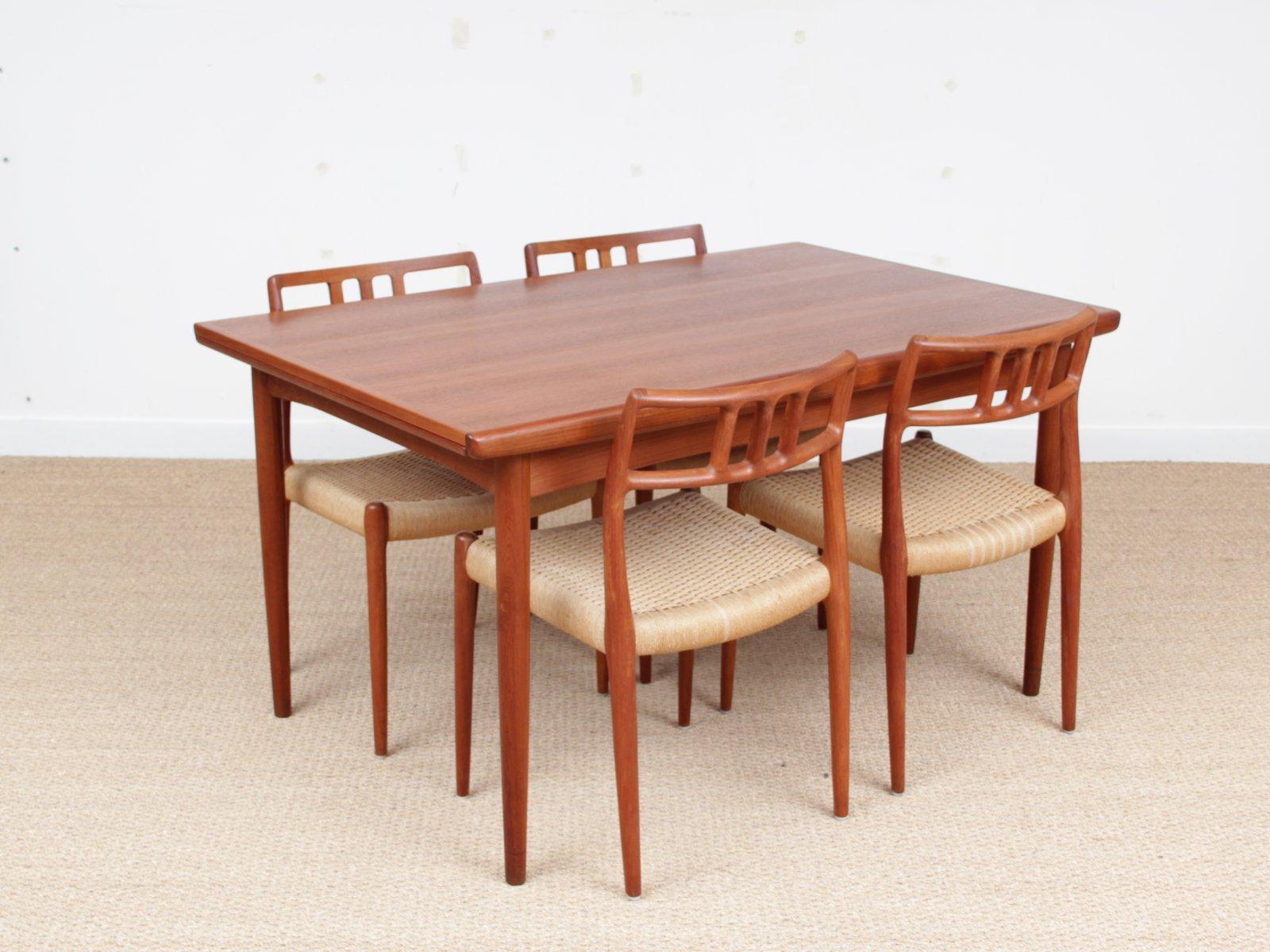 Scandinavian Teak Dining Table from Dyrlund 1950s for  : scandinavian teak dining table from dyrlund 1950s 12 from www.pamono.co.uk size 1601 x 1200 jpeg 146kB