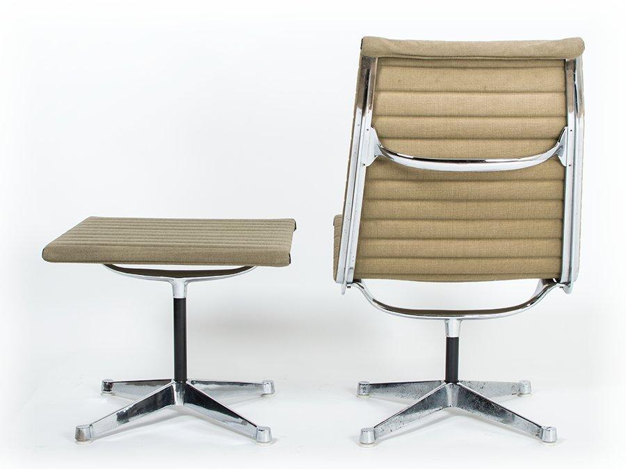 vintage ea116 ea125 stuhl und hocker von charles ray. Black Bedroom Furniture Sets. Home Design Ideas