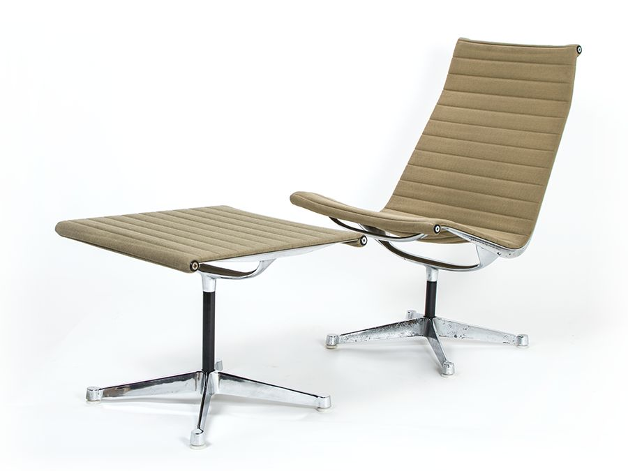 vintage ea116 ea125 stuhl und hocker von charles ray eames f r herman miller bei pamono kaufen. Black Bedroom Furniture Sets. Home Design Ideas