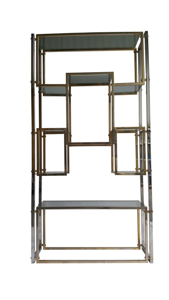 brass plated shelf or etag re 1970s for sale at pamono. Black Bedroom Furniture Sets. Home Design Ideas