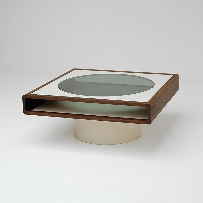 Captivating Space Age Wenge Coffee Table
