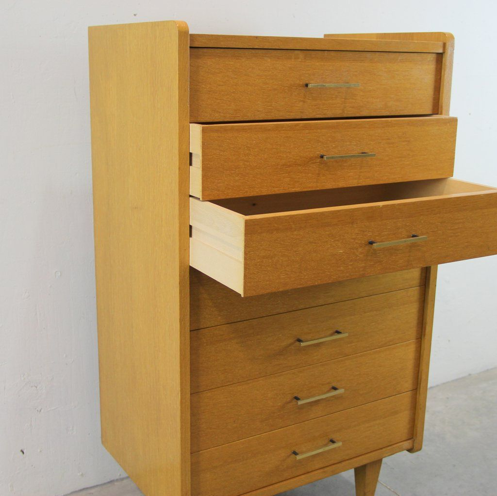 franz sischer schrank mit sieben schubladen 1960er bei. Black Bedroom Furniture Sets. Home Design Ideas