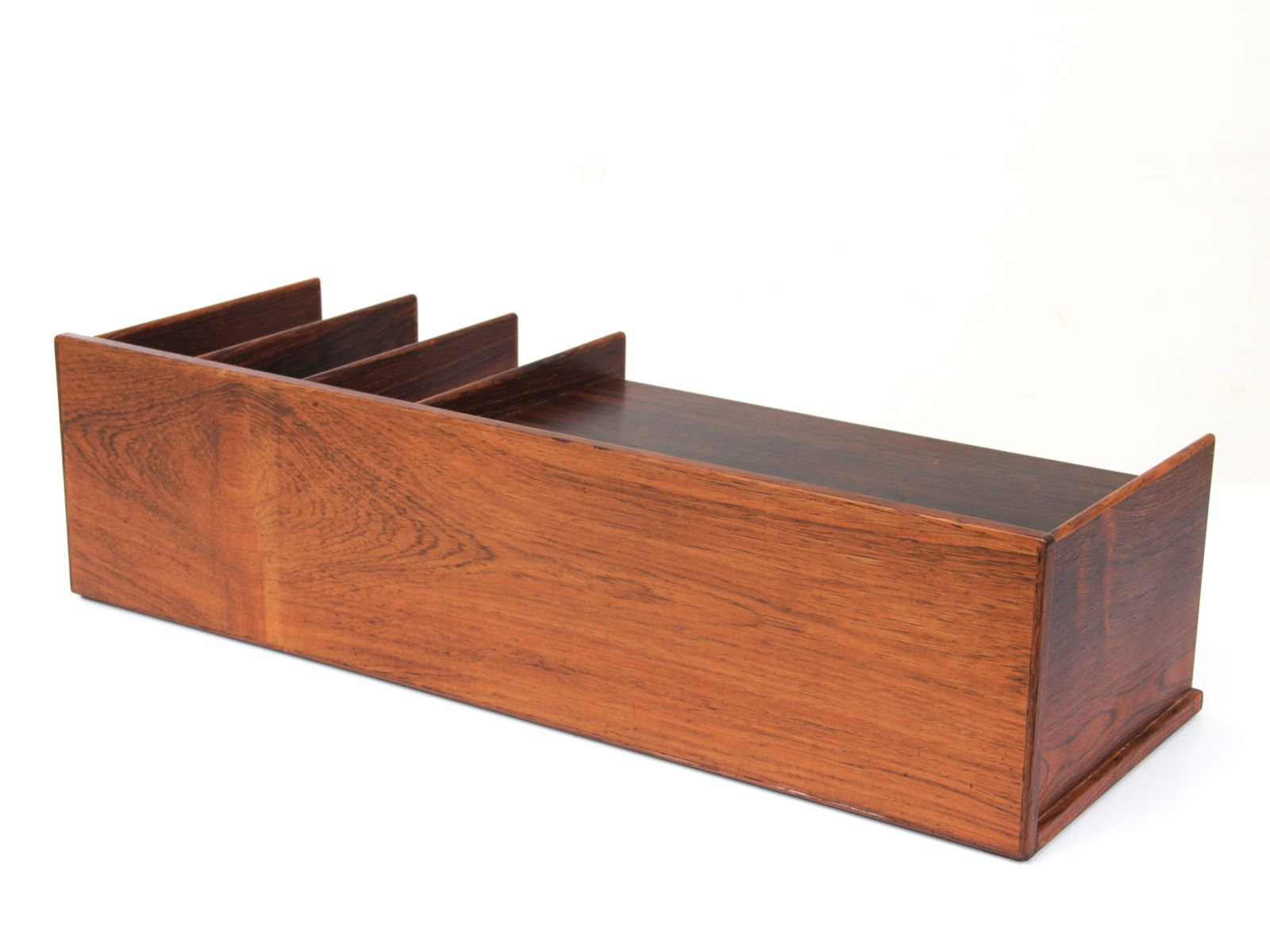 Mid Century Modern Desk Top Organizer in Rio Rosewood from Georg