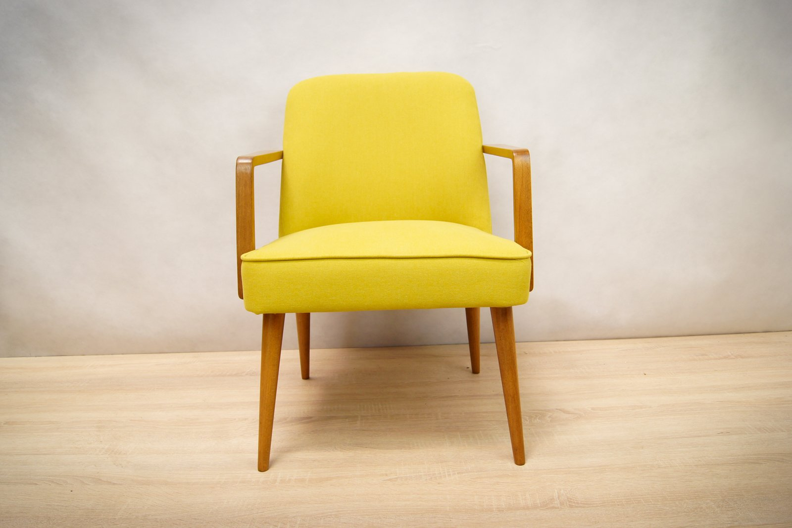 small yellow german armchairs 1960s set of 2 for sale at. Black Bedroom Furniture Sets. Home Design Ideas