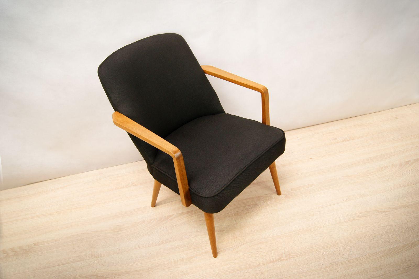 kleiner schwarzer deutscher sessel 1960er bei pamono kaufen. Black Bedroom Furniture Sets. Home Design Ideas
