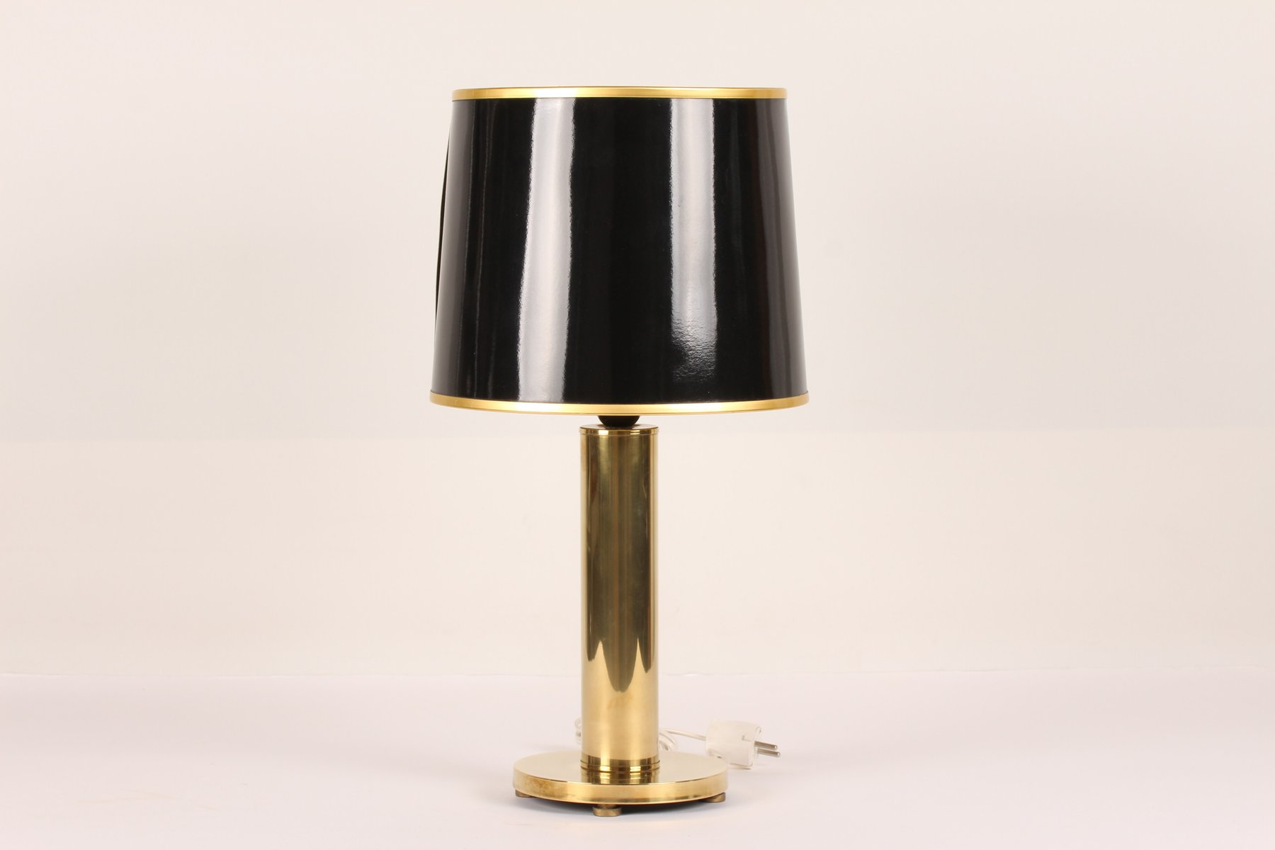 Vintage Table Lamp with a Brass Base from Frandsen, 1970s for sale ...